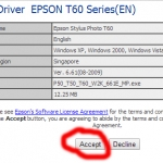 Download driver máy in epson T60